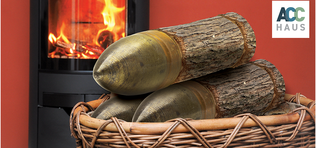 Briquette shell logs